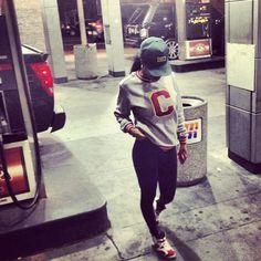 Teyana Taylor wearing Air Jordan VI 6 Carmine