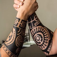Tribal, forearm tattoo on TattooChief.com