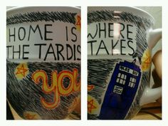 Sharpie Dr. Who tardis mug DIY