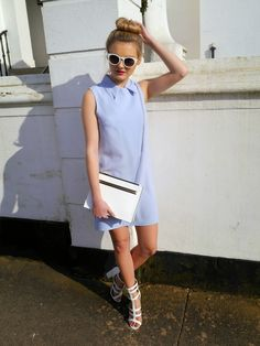 Ladysmart looks amazing in our biker dress . Retro Outfits, New Outfits, Summer Outfits, Fashion Outfits, Fashion Trends, Womens Fashion, Retro Chic, Niomi Smart, Women's Summer Fashion