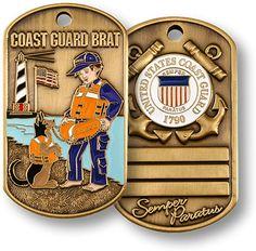 Coast Guard Brat Dog Tag