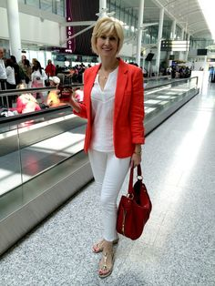 I wore this cute orange jacket on a recent trip.Deborah Boland - Fabulous After 40