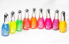 Femme Fluorescent Neon Nail Varnish Polish | Nail Art Designs