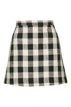 Start your foray into miniskirt territory with a gingham version.Topshop Gingham Bonded Mini Skirt, $68, available at Topshop. #refinery29 http://www.refinery29.com/gingham-clothing#slide-2