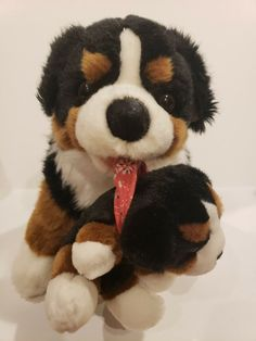 Carl Dick Burmese Mountain Dog Mother With Puppy Plush Hennef Germany RARE #Hennef Burmese Mountain Dogs, Puppy Bandana, Plush Animals, Germany, Teddy Bear, Puppies, Ebay, Felt Stuffed Animals, Cubs