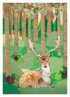 #deer in the #forest #illustration