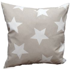 Kissen mit weißen Sternen, beige