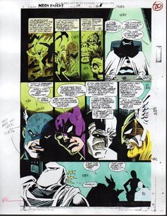 Moon Knight 1993 Marvel color guide art page:Avengers/Thor/100s MORE IN OURSTORE