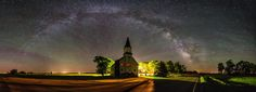 Glorious Night by Aaron J. Groen on 500px:  Immanuel Lutheran Church near Canova, South Dakota - photographed on June 24, 2014.