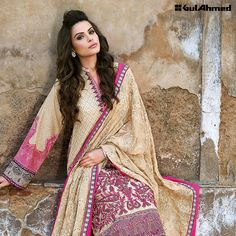 PM116 Shop Now: https://www.gulahmedshop.com/products/brown-premium-embroidered-chiffon-pm-116