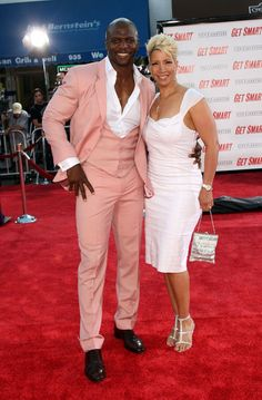 """Terry Crews Photos - Actor Terry Crews and wife arrive at Warner Bros. World Premiere of """"Get Smart"""" held at the Mann Village Theatre on June 2008 in Westwood, California. Premiere of """"Get Smart"""" - Arrivals Interracial Celebrity Couples, Black Celebrity Couples, Black Couples, Interracial Couples, Celebrity Style, Celebrity Children, Black Actors, Black Celebrities, Celebs"""