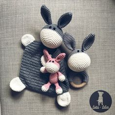 Anleitungspaket EselThis instruction pack contains 3 different donkey instructions. Amigurumi crochet patterns for donkeys. Crochet Amigurumi, Amigurumi Patterns, Amigurumi Doll, Crochet Toys, Crochet Baby, Knitting Patterns, Crochet Patterns, How To Start Knitting, Knitting For Kids