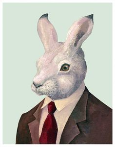 Mr Rabbit 8x10 archival art print by animalcrew on Etsy, $19.00