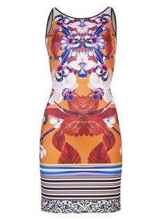Printed, Clover Canyon Sleeveless Floral Neoprene Dress, $250; farfetch.com    Read more: Summer Party Dresses - Hot Designer Dresses for Summer  Follow us: @ElleMagazine on Twitter   ellemagazine on Facebook  Visit us at ELLE.com