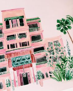 Pink hotel by @rosieharbottle