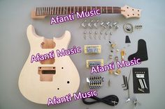 235.00$  Buy here - http://ali98h.worldwells.pw/go.php?t=32706439385 - Afanti Music PRS DIY guitar kit PRS style electric guitar (APR-729) 235.00$