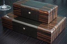 Gorgeous carbon fiber watch boxes