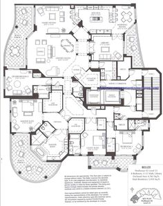 Belize Penthouse 02 Level 21 Photo by marcoislandcondos Ranch House Plans, Country House Plans, Dream House Plans, House Floor Plans, House Layout Plans, Floor Plan Layout, House Layouts, Home Design Plans, Plan Design