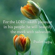 Psalm 149:4 For Yahweh takes pleasure in his people. He crowns the humble with salvation.