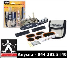 Get this 30piece bicycle & puncture repair kit, available from #PennypinchersKnysna. It is ideal for quick, easy repairs and maintenance work on your bicycle.