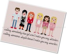 Pixel People - Mean Girls - PDF Cross-stitch Pattern - INSTANT DOWNLOAD