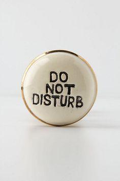 Do Not Disturb Door Knob by Anthropologie in Beige, Knobs Dog Training Equipment, Anthropologie, Home Hardware, Furniture Hardware, Door Knobs, Bed And Breakfast, Stuff To Do, Sweet Home, Sweet Sweet