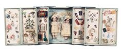 Presentation Box for French Doll Accessories | Lot: 77. Presentation Box with Dolls,Accessories