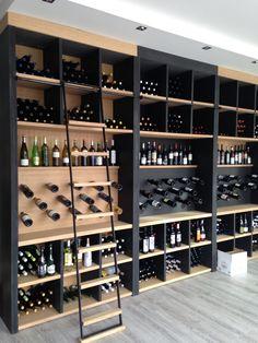 I like the idea of using glass for the wine cellar. * N -… – Wine World Wine Rack Wall, Wine Wall, Wine Racks, Wine Shelves, Wine Storage, Storage Ideas, Wine Cellar Basement, Home Wine Cellars, Wine Cellar Design