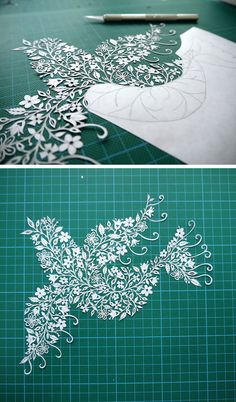 Suzy Taylor, from Hertfordshire, England, hand-cuts insanely intricate paper art from single sheets of paper. - Dove.