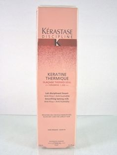 #Loreal #Paris #Kerastase Discipline #Keratine #Thermique anti-frizz anti-humidity #smoothing and #taming #milk leave-in #conditioning #conditioner #treatment for #frizzy unruly and damaged #hair in a 5.1 fl. oz./150 ml size, brand new and unused in original manufacturer's pink cardboard box and clear factory sealed retail protective shrink-wrap packaging…