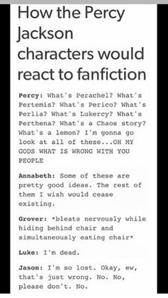 Percy and Jason's reaction