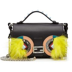 Fendi Embellished Leather Double Baguette Shoulder Bag (65,210 THB) ❤ liked on Polyvore featuring bags, handbags, shoulder bags, multicolored, fendi purse, shoulder handbags, multi colored leather handbags, shoulder hand bags and fendi handbags