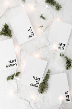 Download some Free Printable Minimalist Christmas Cards
