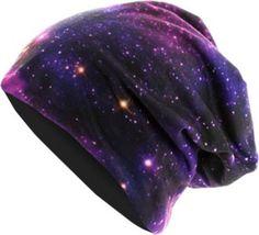 MasterDis Printed Jersey beanie galaxy/black