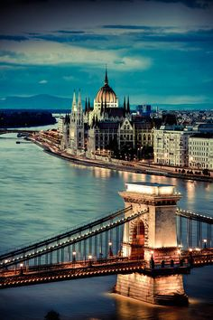 Parliament and Chain Bridge - Budapest. I've been, but I would go back!