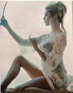 Brigitte Bardot Original Sheer Nude Pin-Up First Playboy Pictorial Appearance April 1969