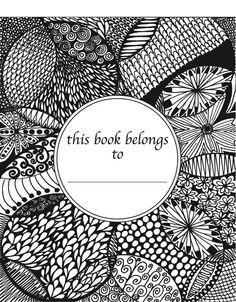 50 Original Doodles To Color Calming Doodles Volume by ColorItCom