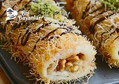 Kadayıflı Rulo Pasta Bizbayanlar.com  #Kadayıf, #Krema, #Margarin, #Şeker, #Süt, #Teryağ, #Un,#PastaTarifleri, #SütlüTatlılar http://bizbayanlar.com/yemek-tarifleri/tatli-tarifleri/pasta-tarifleri/kadayifli-rulo-pasta/