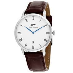 Daniel Wellington Men's Dapper Quartz Brown Band White Dial
