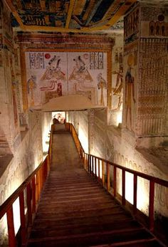 Steps leading to the tomb of Pharaoh Ramses VI