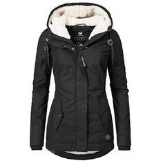 "Best Sale Shop - Buy ""Winter Warm Coat Female Windproof Slim Outerwear Fashion Elastic Waist Zipper Pocket Hooded Drawstring Overcoats Autumn Clothes"" from category ""Women's Clothing & Accessories"" for only USD. Fall Winter Outfits, Winter Fashion, Vetements Shoes, Denim Jacke, Autumn Clothes, Winter Coats Women, Cute Winter Coats, Warm Winter Jacket, Black Winter Coat"