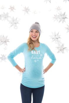 baby it's cold outside graphic maternity tee by Motherhood Maternity Maternity Nursing, Maternity Tees, Maternity Outfits, Maternity Style, Baby Shower Winter, Baby Boy Shower, Stylish Maternity, Maternity Fashion, Pregnancy Shirts