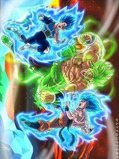 Dragon-ball-super-broly-movie-trailer-english-dub- by gaceemi on DeviantArt Dragon Ball Gt, Dragon Ball Image, Goku E Vegeta, Goku Vs, Broly Movie, Drawings, Artwork, Battaglia, Nikki Sixx