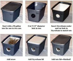 Insulated outdoor cat shelter homemade outdoor cat house how to build an outdoor cat shelter an outdoor cat house for winterEasy To Build Shelter For … Feral Cat House, Feral Cat Shelter, Feral Cats, Cat Shelters, Winter Cat Shelter, Animal Shelters, Outside Cat House, Outside Cat Shelter, Outdoor Cat Enclosure