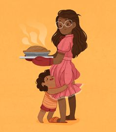 ilustramari//Today is the second day of #childhoodweek and the theme is TEMPTING ✨ the first thing that came to mind was me helping (*ahem* making a mess) my mom to bake cakes and wanting so bad to lick the batter off the spoons and waiting what seems like forever next to the oven. Can you guys relate? 🍰 #childhoodweek2018 #artistsoninstagram