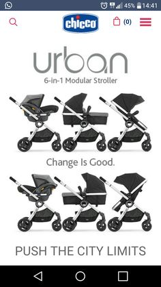 The stylish Chicco Urban is a modular stroller solution that adapts to suit your child's changing needs. Versatile design allows you to use it as a KeyFit® Infant Car Seat (sold separately) carrier, an infant carriage, or as a toddler stroller. Chicco Urban Stroller, Pram Stroller, Bassinet, Best Baby Strollers, Baby Wish List, My Bebe, Baby Gadgets, Baby Necessities, Baby Supplies