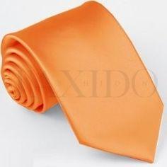 Pánská úzká kravata - oranžová