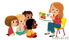 Teach children PNG and Clipart People Illustration, Illustrations And Posters, Children's Book Illustration, Character Illustration, Kid Character, Character Design, Kids Reading Books, Kids Background, Cute Drawings
