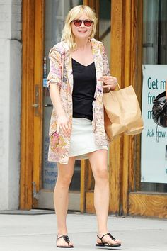 Kirsten Dunst on the street in New York - celebrity fashion
