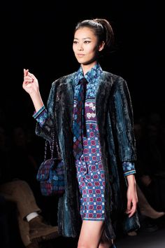 Anna Sui Fall/Winter 2013 - There is something about the mixture of patterns, textures, and eras that the Anna Sui line has this season that I find really amazing